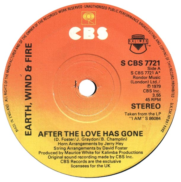 Earth Wind Fire After Love Gone