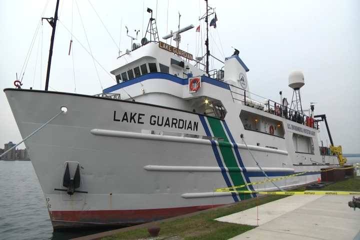 Great Lakes Research Vessel   Lake Guardian  Stops in the Soo for     It s a floating laboratory that s used to collect samples from the five  Great Lakes  and Tuesday in Sault Ste  Marie  it stopped for free tours