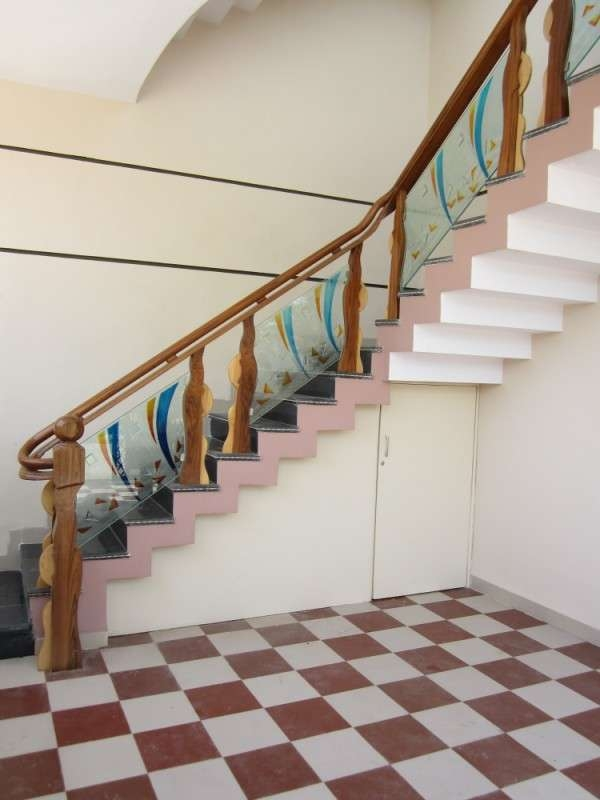 Wooden Glass Railing Wood Stairs Glass Staircase In | Wood And Glass Handrail