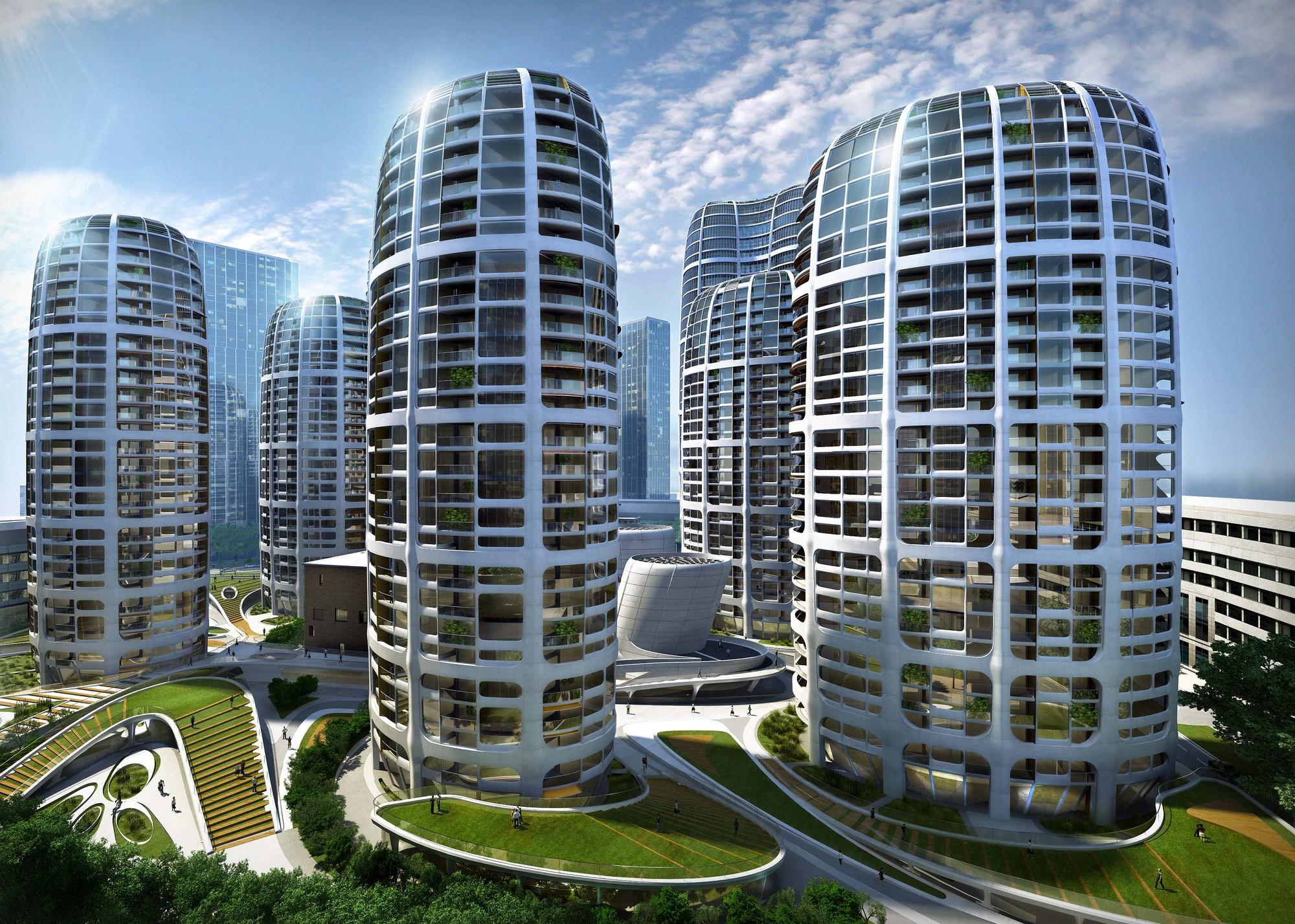 Bratislava Culenova New City Center Proposal / Zaha Hadid ...