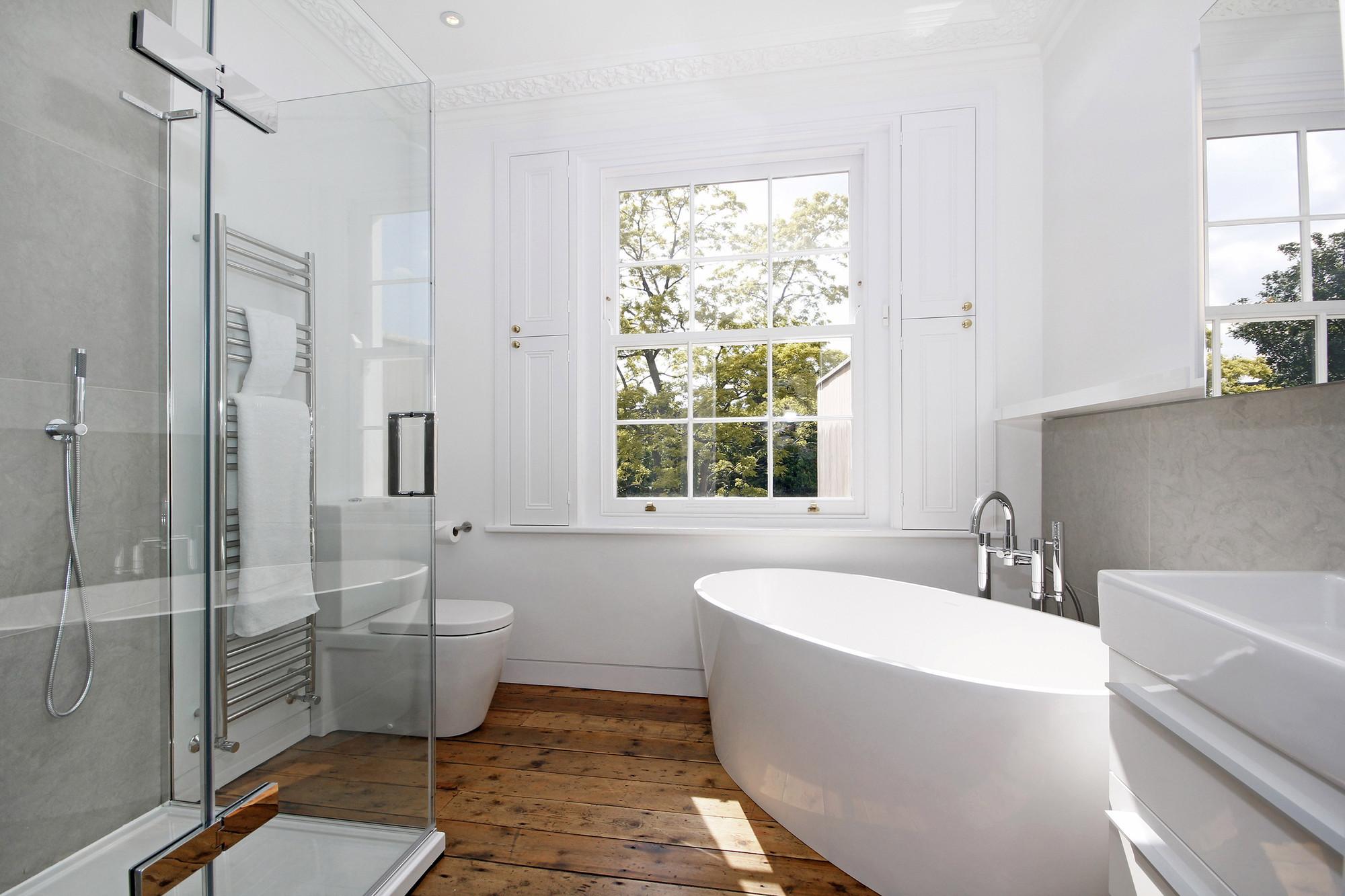 beautiful white bathrooms - 1150×766