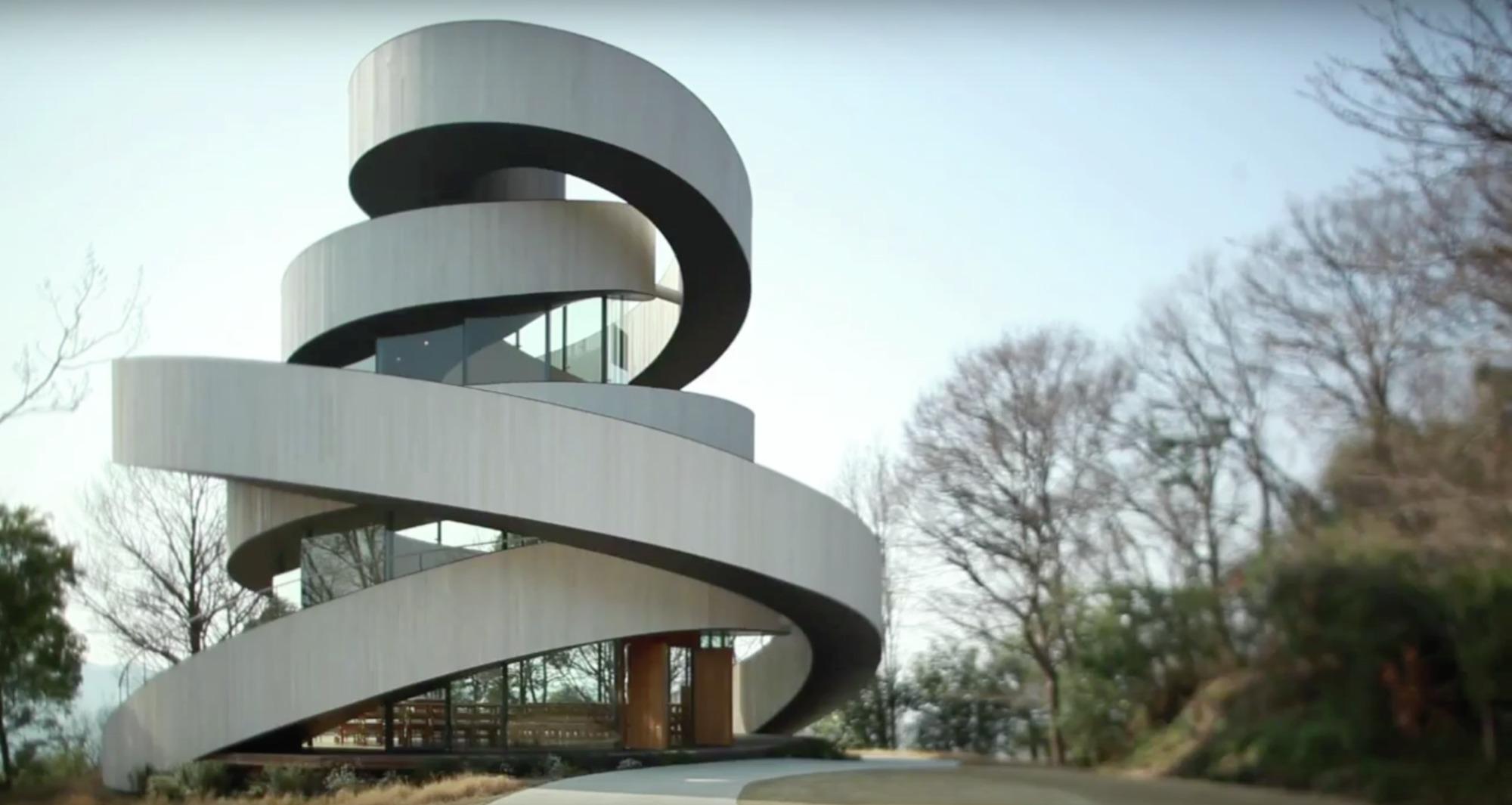 Video Hiroshi Nakamura S Ribbon Chapel Archdaily