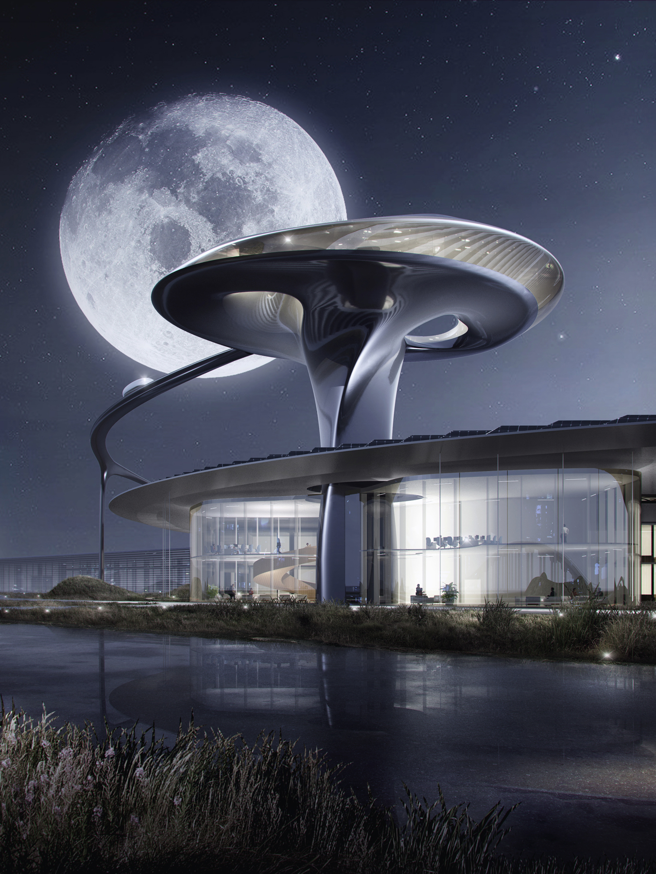 Gallery of MAD Architects Designs Futuristic Headquarters ...