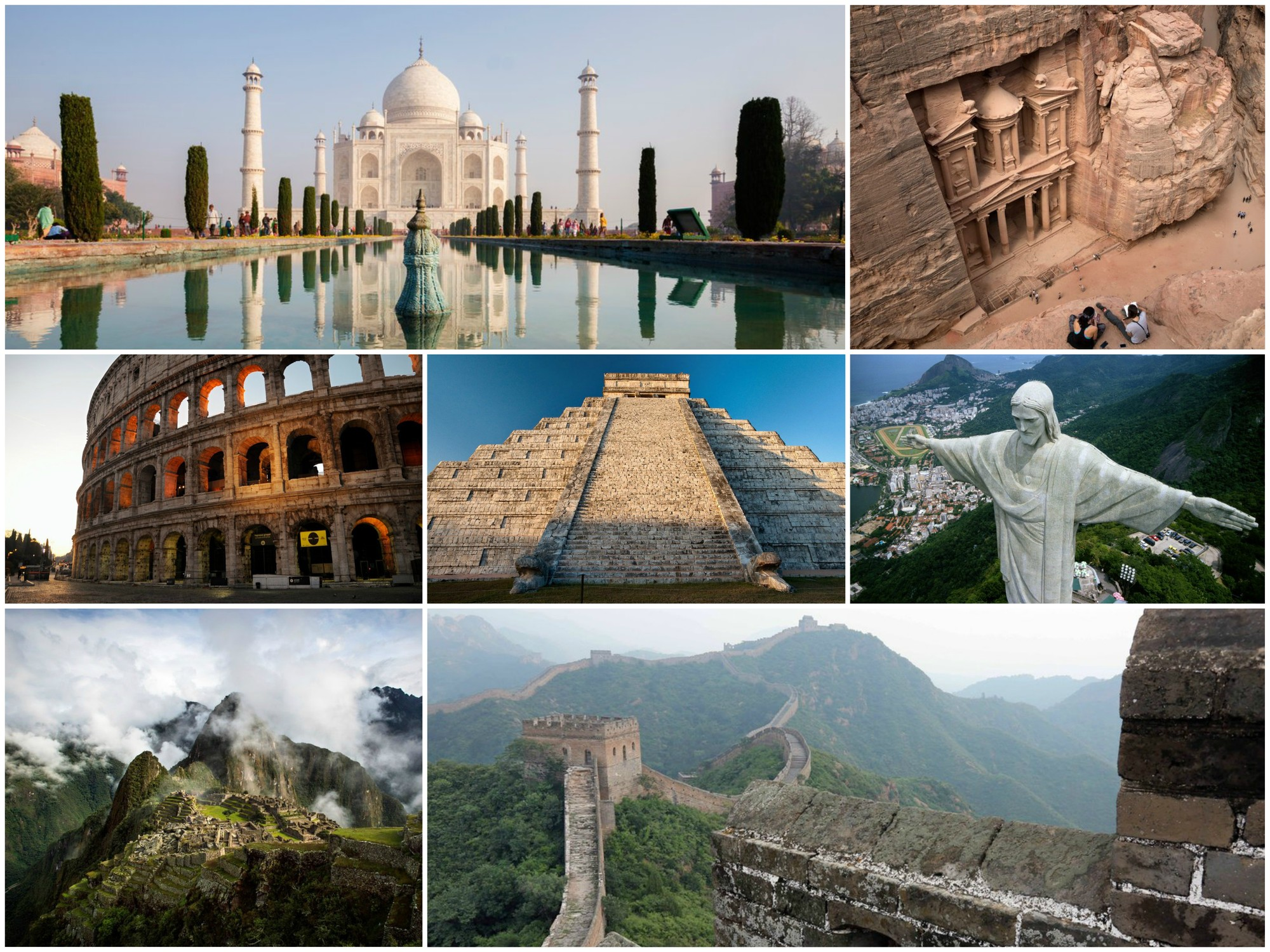 the seven wonders of the world - HD 1333×1000