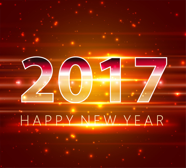 2017 new year template design with sparkling light Free vector in     2017 new year template design with sparkling light