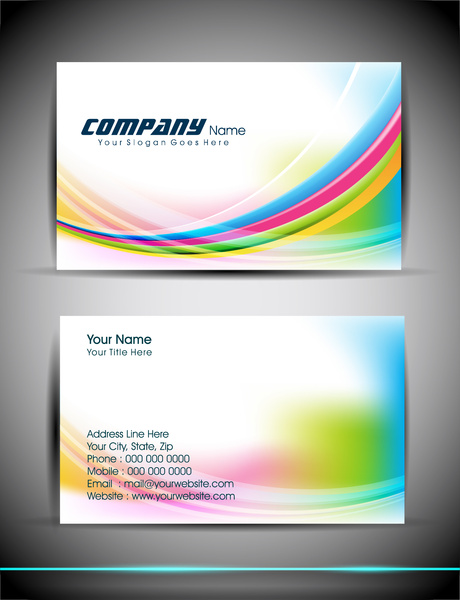 Abstract business card template Free vector in Adobe Illustrator ai     abstract business card template
