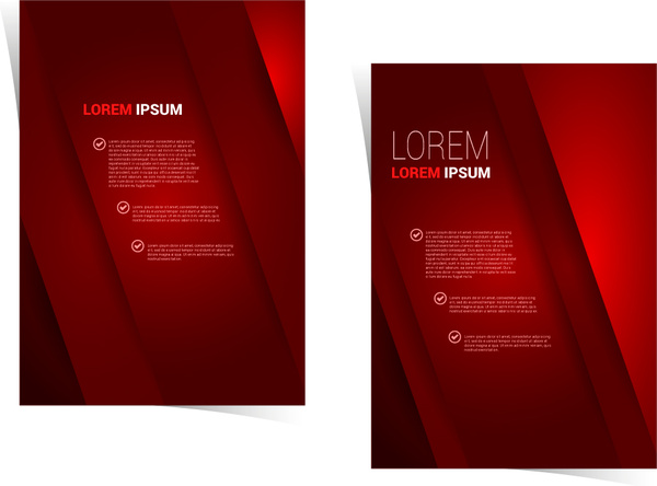Brochure template design with dark red background Free vector in     brochure template design with dark red background