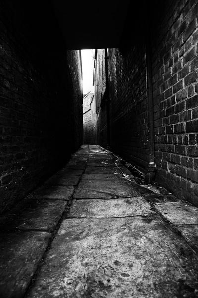 Street White Empty And Black