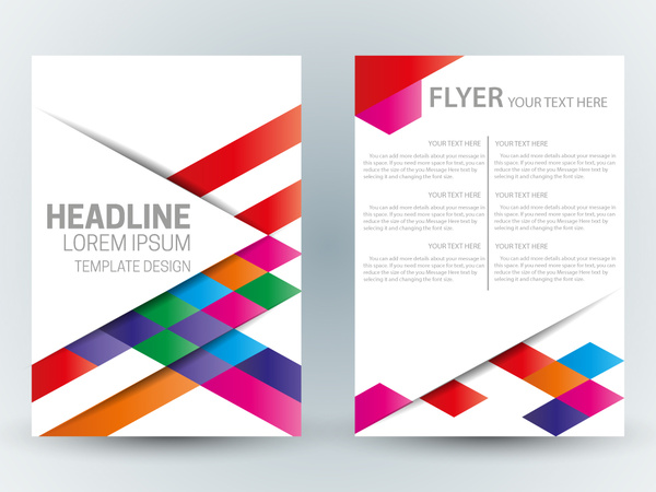 Flyer template design with abstract colorful bright background Free     flyer template design with abstract colorful bright background