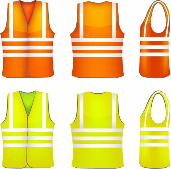 Orange Safety Vest Cartoon