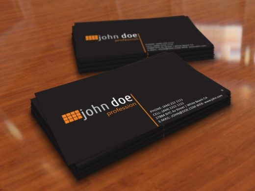 Simple black personal business card template Free vector in Adobe     simple black personal business card template