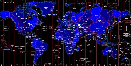 World time zone map identifies the vector Free vector in     world time zone map identifies the vector