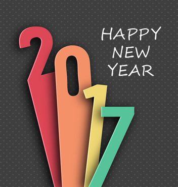 New year template coreldraw free vector download  20 469 Free vector     2017 new year template design with lenghthened numbers