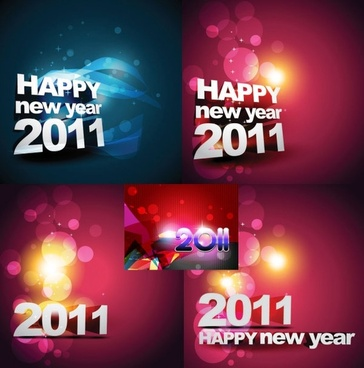 Happy new year fonts free vector download  9 748 Free vector  for     happy new year 2011 background vector