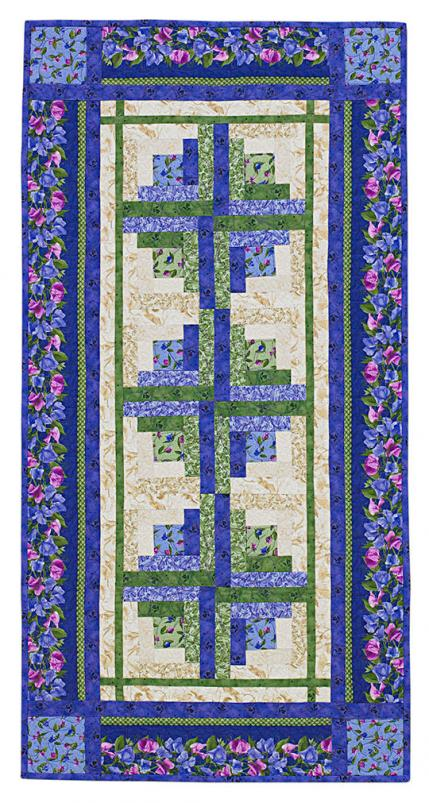 Quilt Cabin Block Log House