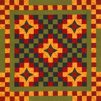 Four Pointed Star Chain Allpeoplequilt Com