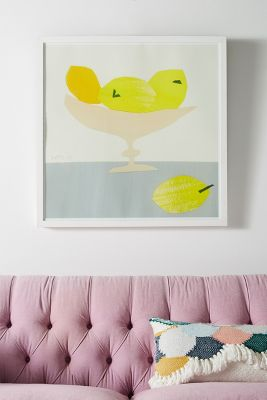 New Wall Art   New Wall D    cor   Anthropologie Still Life Series   Lemons Wall Art