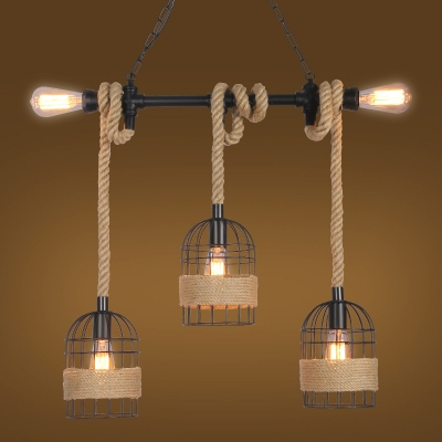 pendant lighting with rope # 53