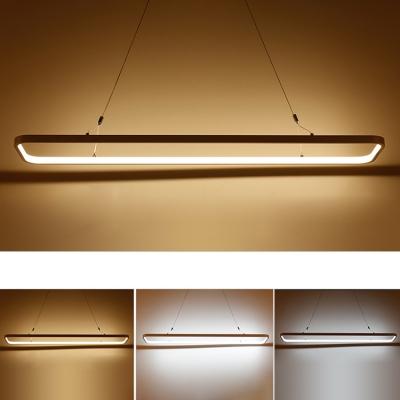 Led Direct Indirect Lighting Hallow Rectangle Led Pendant