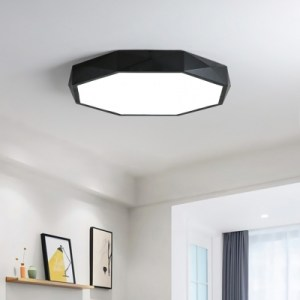 Baycheer   Black Finish Modern Geometrical Lighting LED Octagon Led     Baycheer   Black Finish Modern Geometrical Lighting LED Octagon Led Ceiling  Light 24 36 48W LED Direct