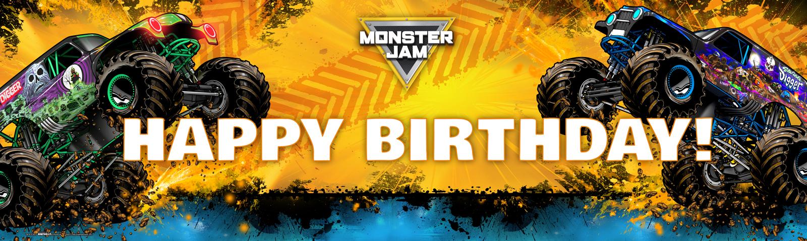 Monster Jam Birthday Banner Birthdayexpress Com