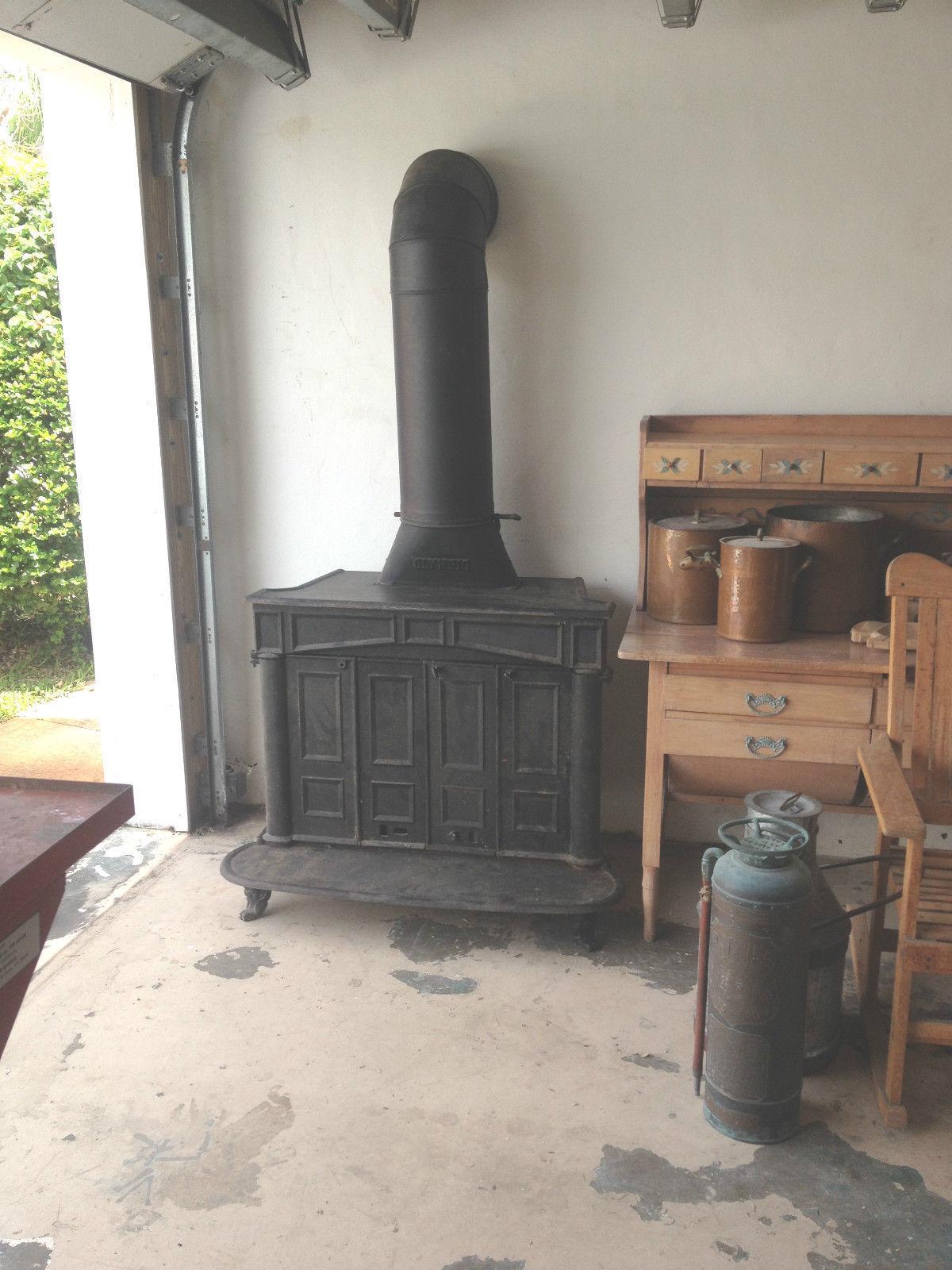 Heavy Duty Cast Iron Olympic Wood Heater Stove Fireplace