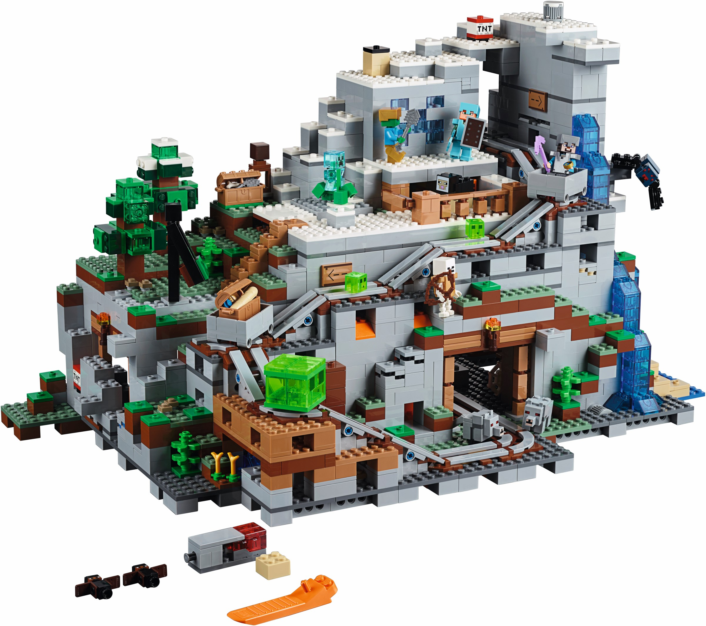 Minecraft   2017   Brickset  LEGO set guide and database The Mountain Cave