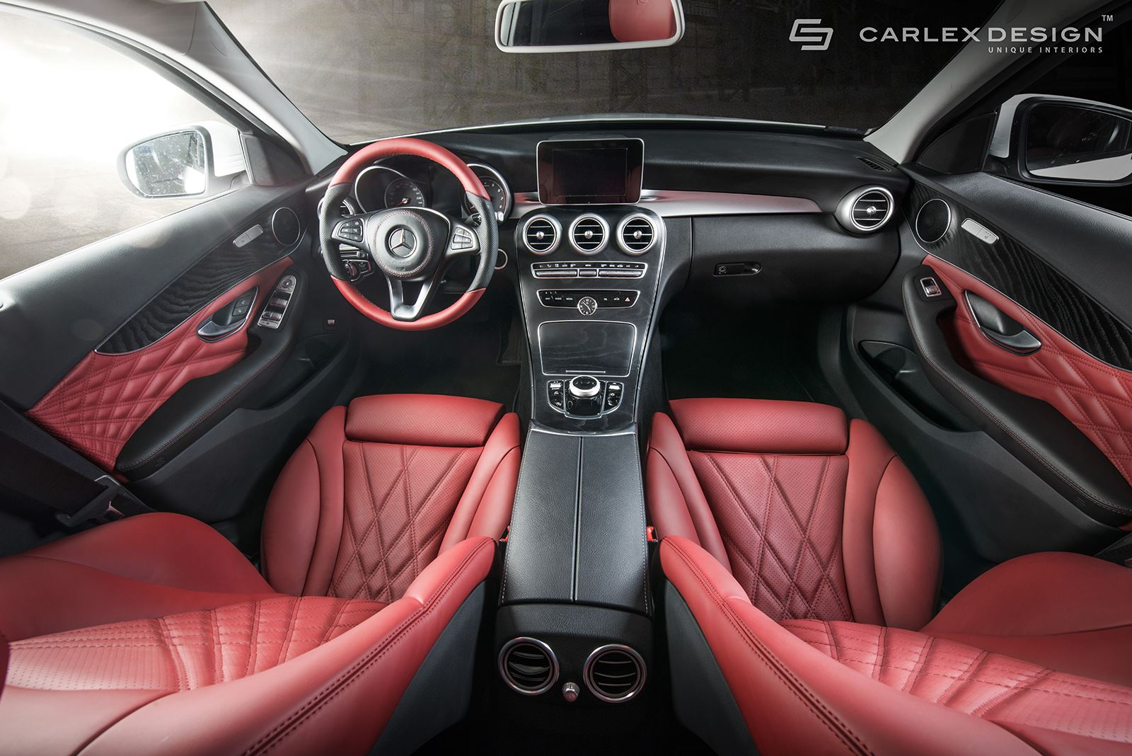 Carlex Adds Red Amp Black Leather Combo To Mercedes C Class