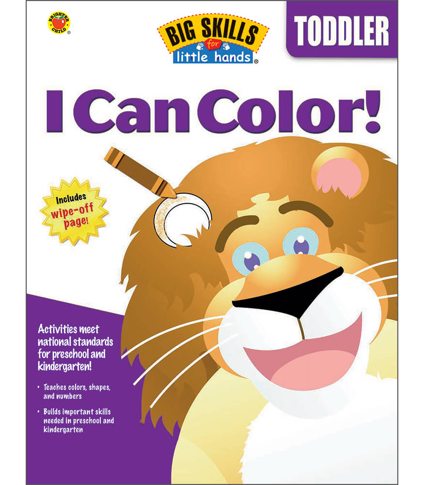 I Can Color Workbook Grade Toddler Carson Dellosa Publishing