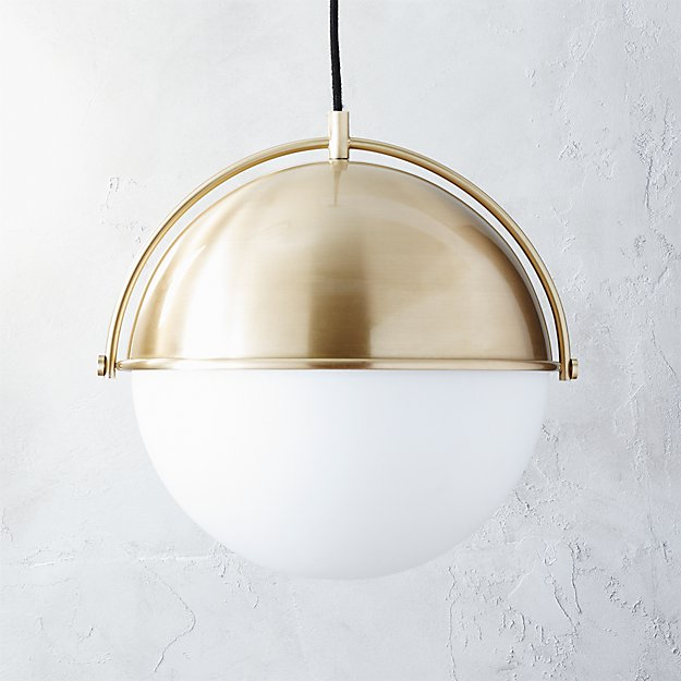 Brushed Gold Pendant Light