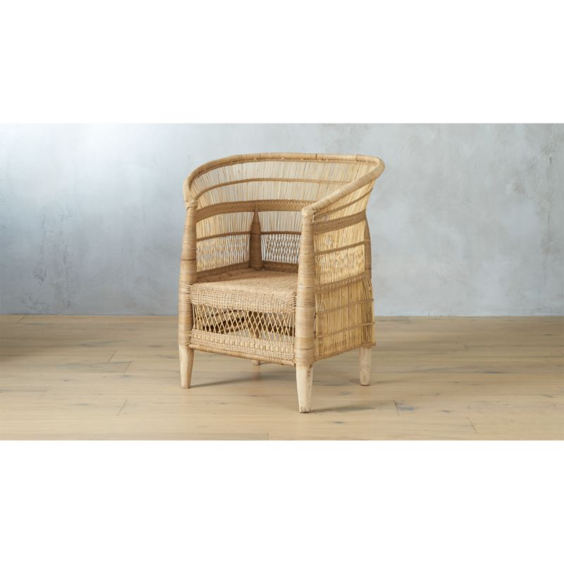 Blue Print Accent Chair