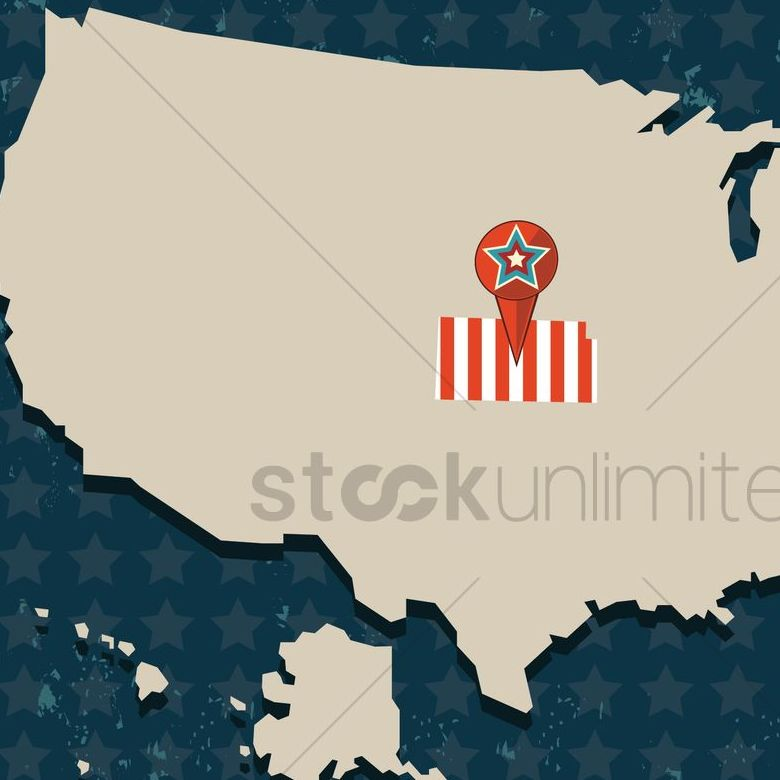 HD Decor Images » Kansas state on the map of usa Vector Image   1552231   StockUnlimited kansas state on the map of usa vector graphic