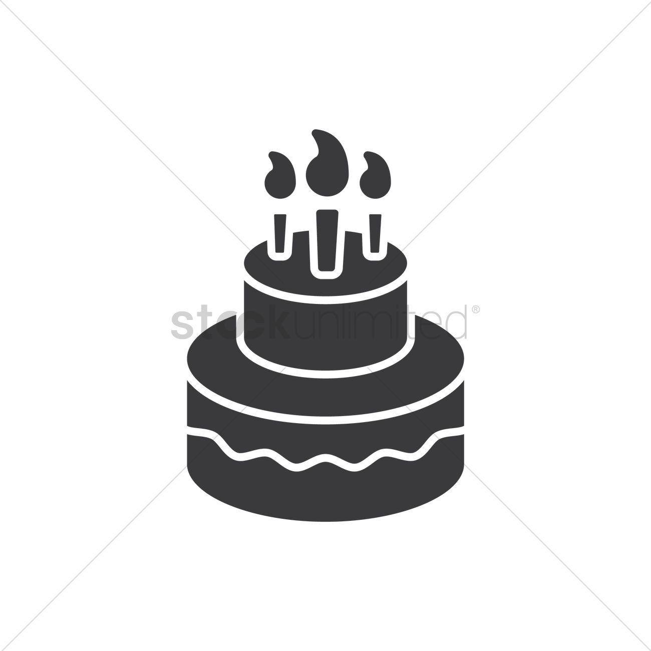 Birthday Cake Vector Image 1973408 Stockunlimited