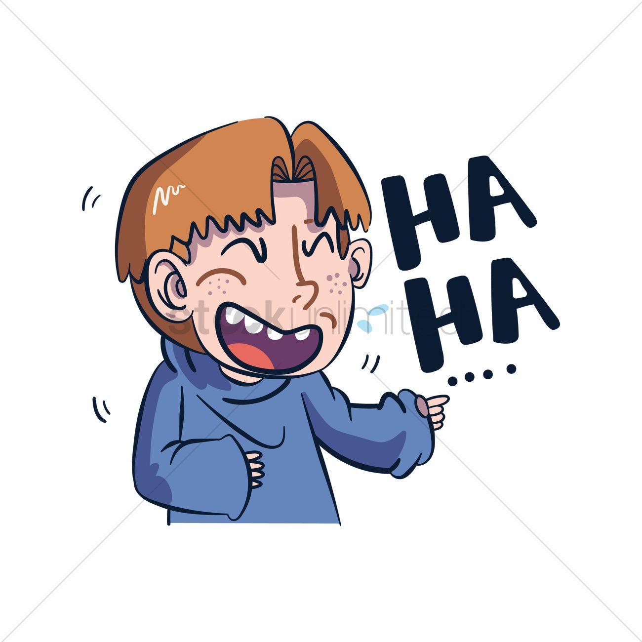Cartoon character laughing Vector Image - 1957489 ...