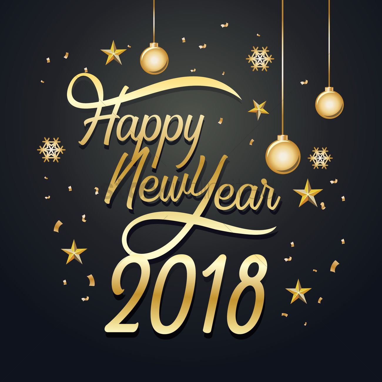 Happy new year 2018 Vector Image   2078765   StockUnlimited happy new year 2018 vector graphic