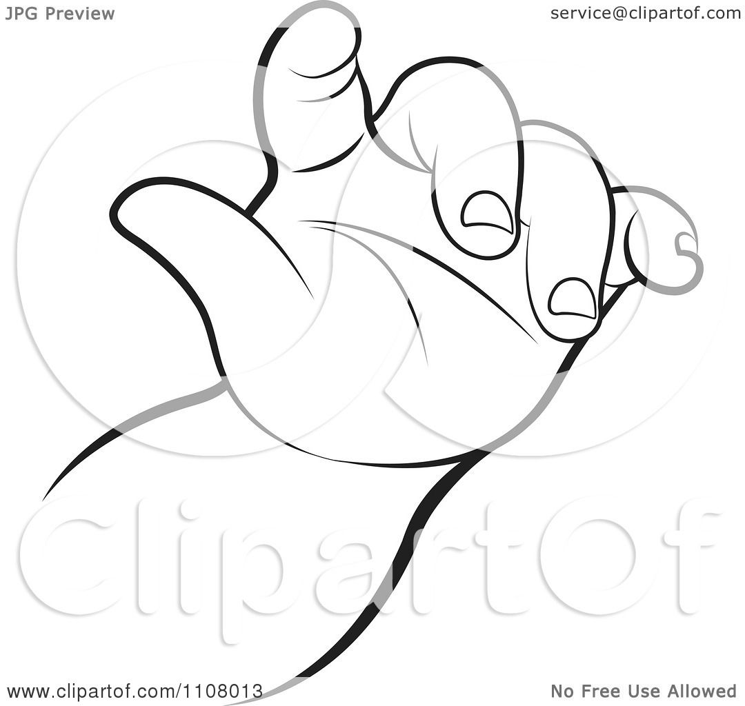 Art Clip Baby Hands White Black And