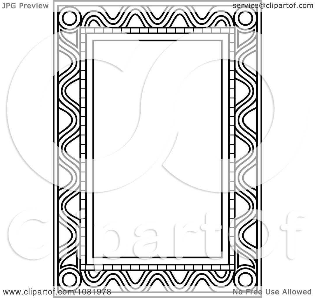 Black And White Frame Borders Doodles Picture Heart