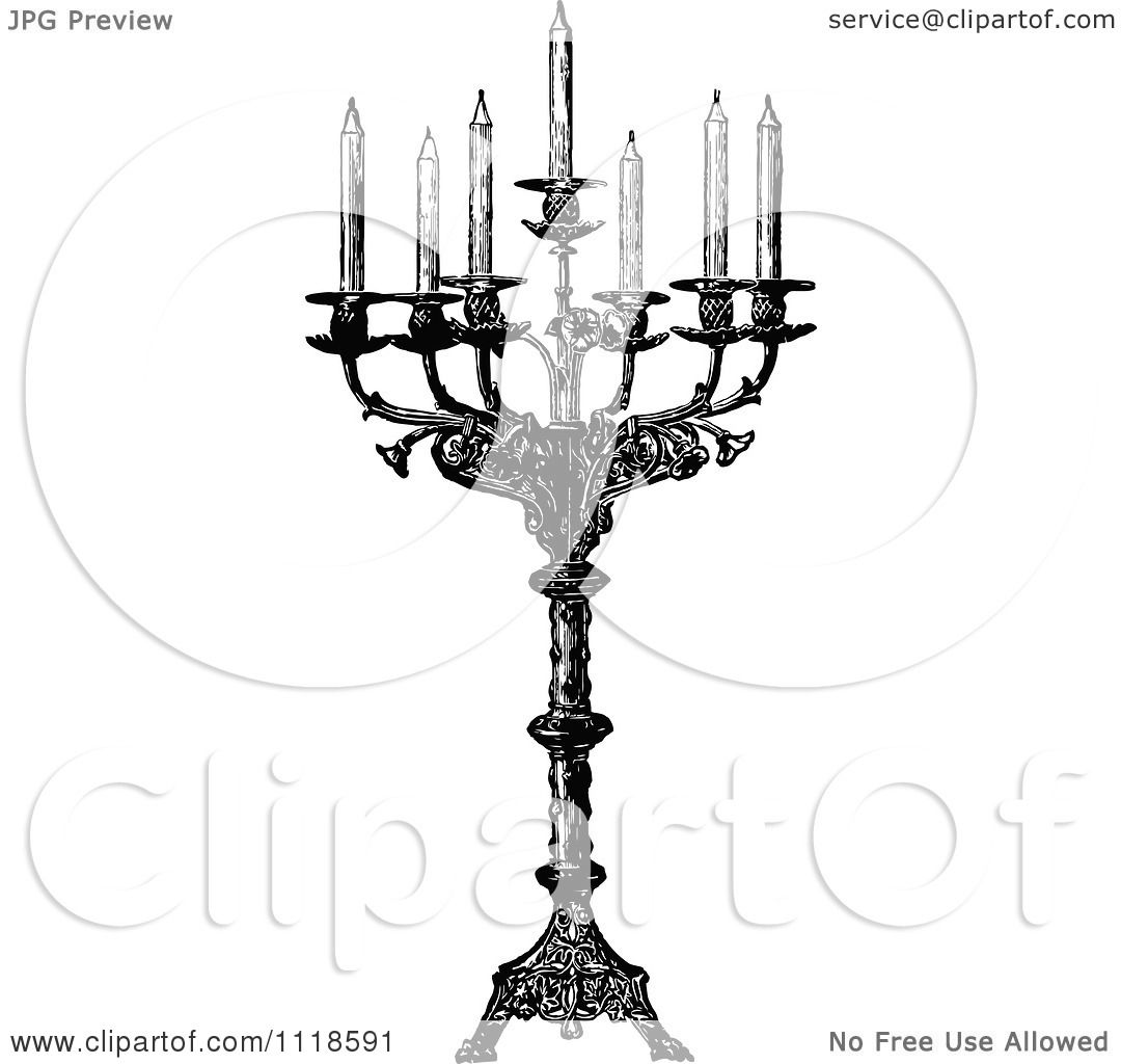 Clipart Of A Retro Vintage Black And White Ornate