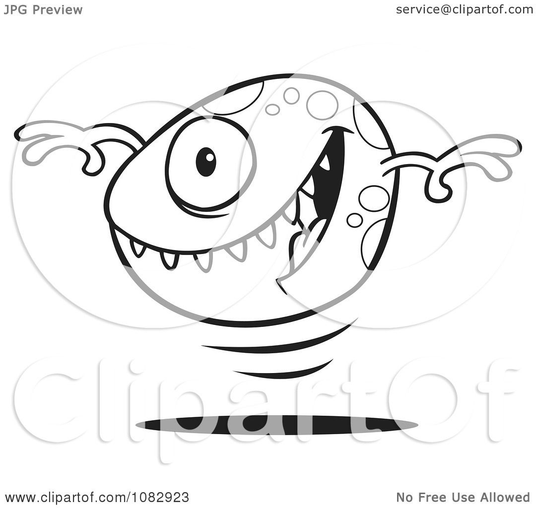 Color Book Krypto Coloring Pages Clipart Outlined Bouncing Monster Ball Royalty Free Vector Illustration 10241082923