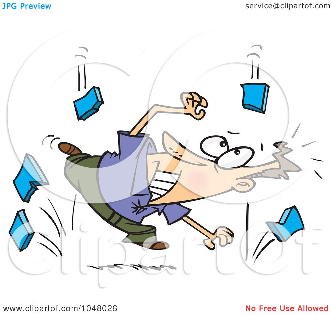 Funny Cartoon Someone Falling