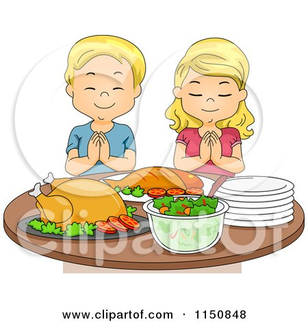 Clipart of a Sketched Blond White Boy Kneeling and Praying ...
