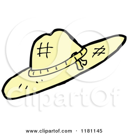 Cartoon Of A Ladies Straw Hat Royalty Free Vector
