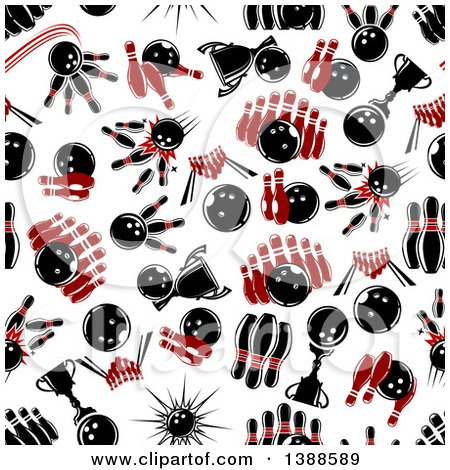 Clipart of a Seamless Background Pattern of Bowling Balls ...
