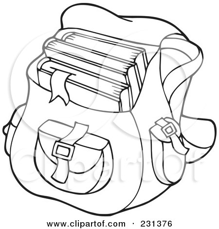 Royalty-Free (RF) Clipart Illustration of a Backpack ...