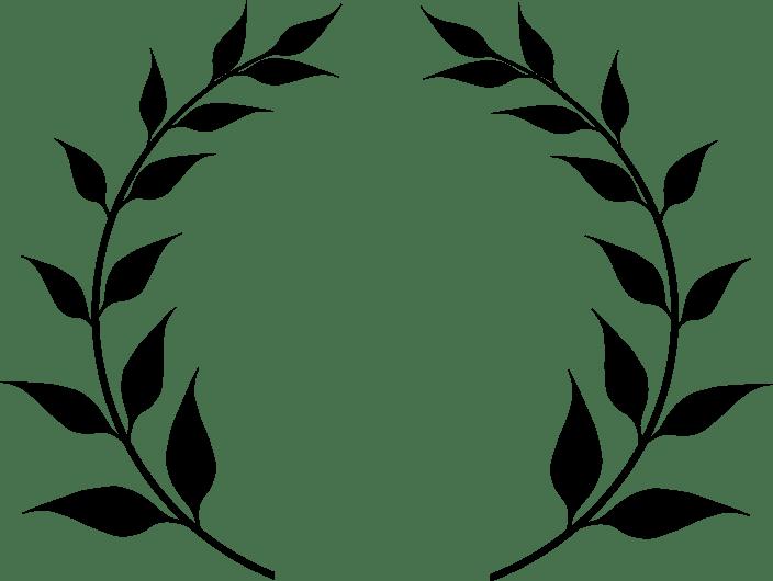 Borders And Art Black White Clip Wreath