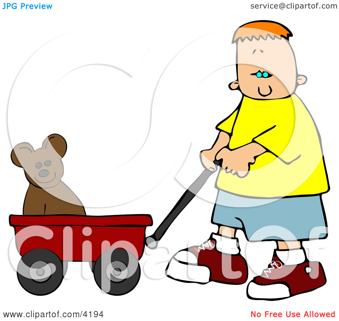 Preschoolers Cleaning Toys Clip Art