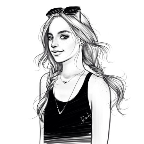 Pretty girl. #sketch | Clipart Panda - Free Clipart Images