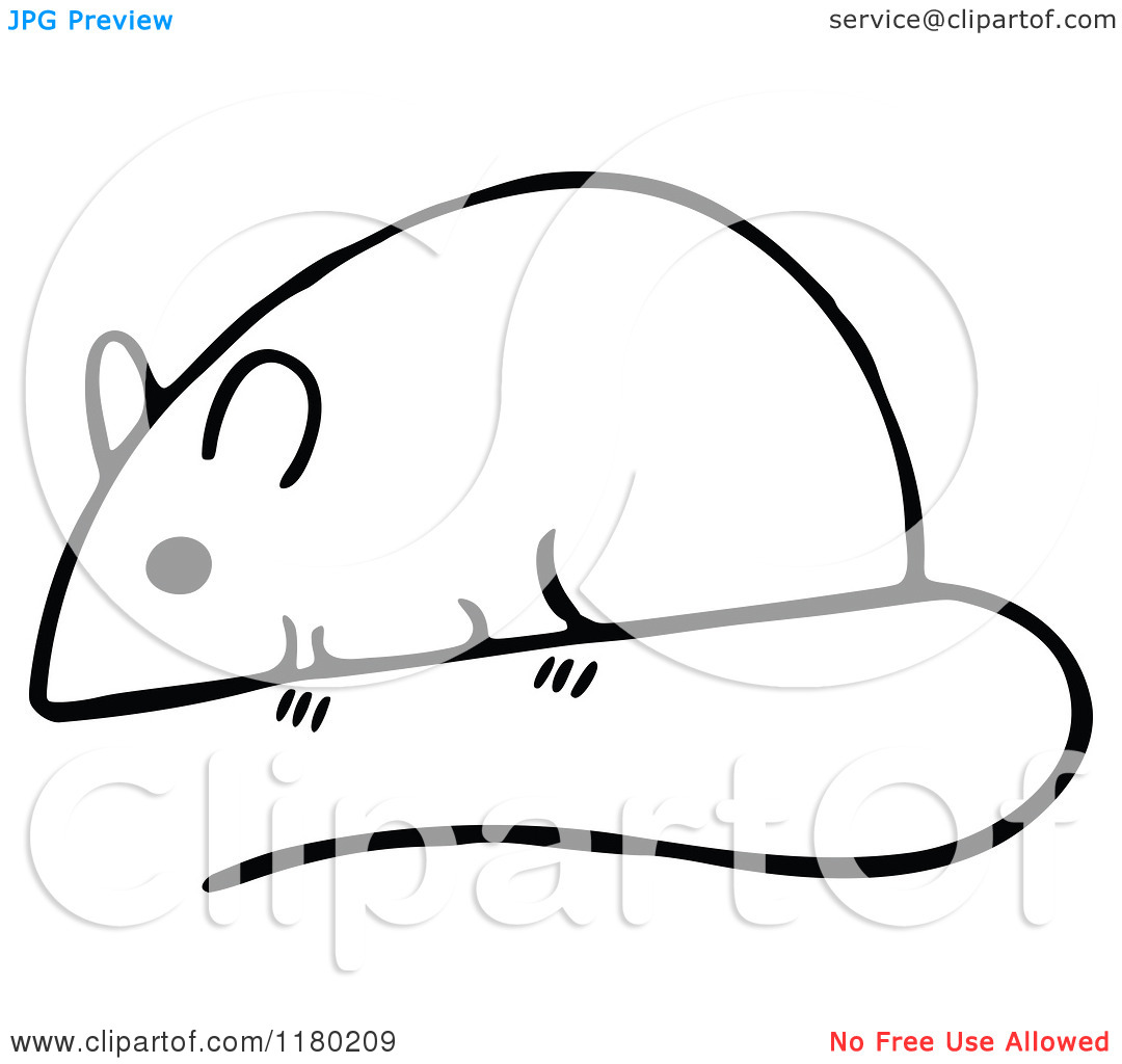 Black And White Clip Pocket Mouse