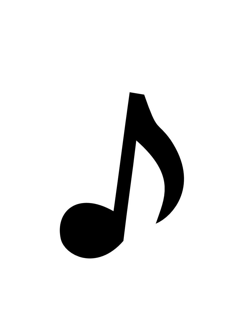 Notes Art White Small Clip Black Music And