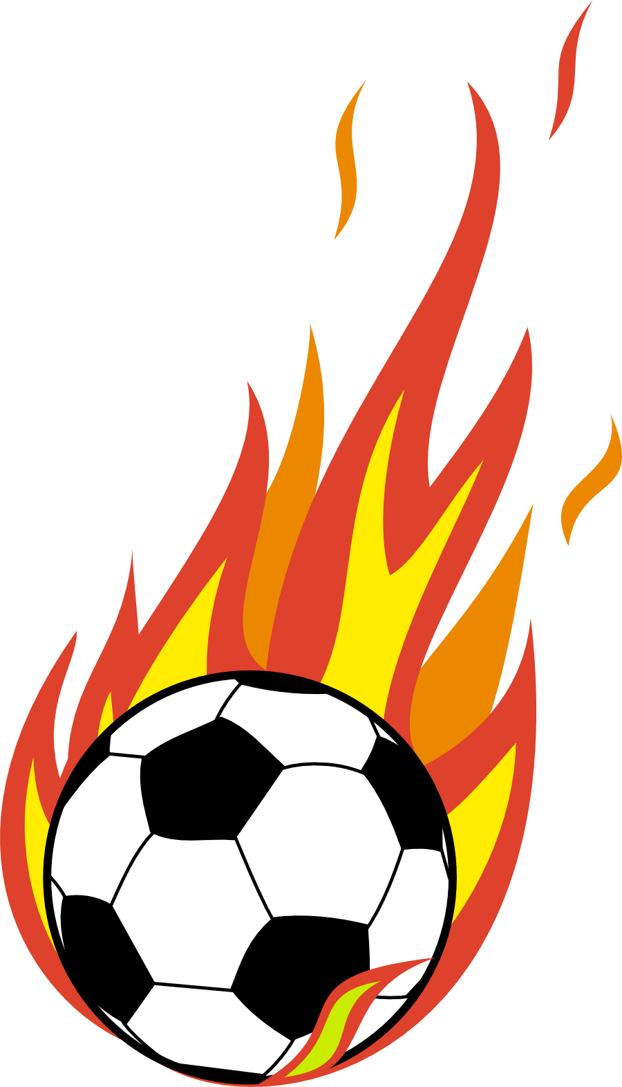 Soccer Ball With Flames Clipart   Clipart Panda - Free ...